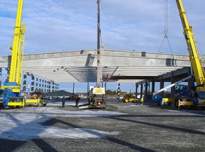 Hellströms bygger magasin 8 på Haraholmen utanför Piteå